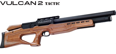 AGT Vulcan 2 Tactic, walnut stock version pre-charged air rifle