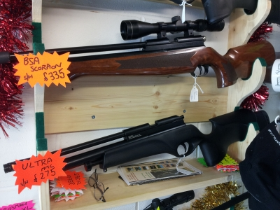 second hand BSA Ultra pre-charged air rifle for sale