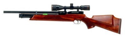 Weihrauch HW100S FSB pre-charged air rifle with fully shrouded barrel