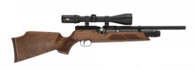 Weihrauch HW100SK FSB pre-charged air rifle with fully shrouded barrel