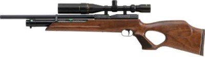 Weihrauch HW100T FSB pre-charged air rifle with fully shrouded barrel